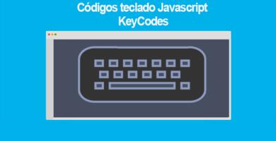 Códigos teclado Javascript KeyCodes