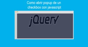 Como abrir popup de un checkbox con javascript