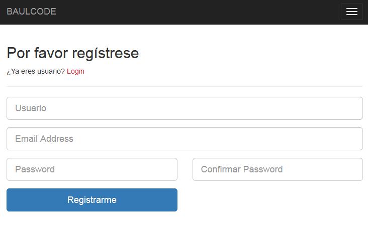Registro del sistema login PDO