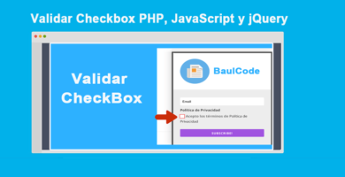Validar Checkbox PHP, JavaScript y jQuery