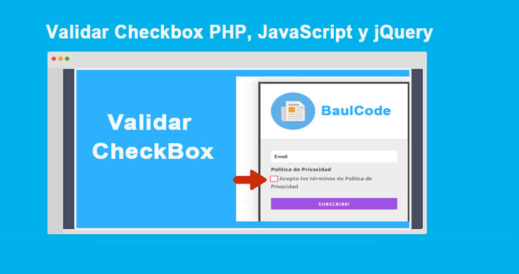Photo of Validar Checkbox PHP, JavaScript y jQuery: Ejemplos