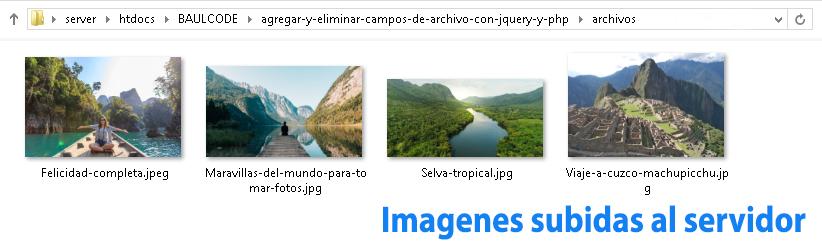 Imagenes subidas al servidor