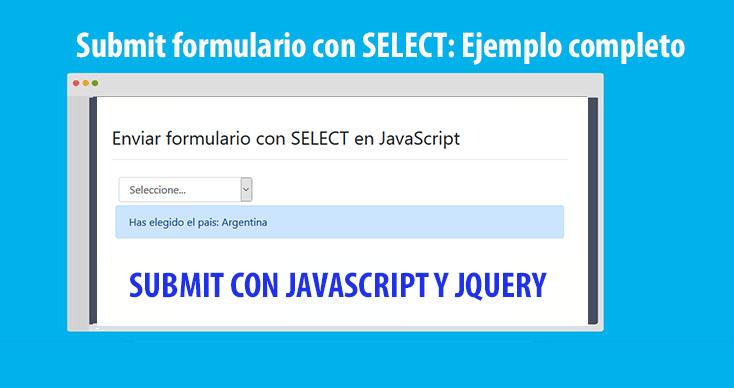 Submit formulario con SELECT TAG