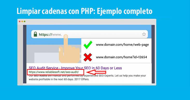 Limpiar cadenas con PHP para que sean seguras