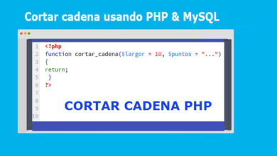Photo of Cortar cadena usando PHP & MySQL [Ejemplo completo]
