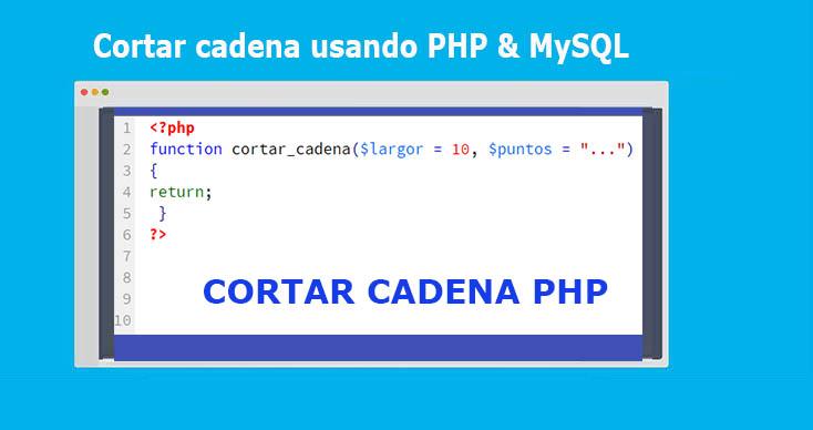 Cortar cadena usando PHP & MySQL
