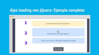 Photo of Ajax loading con jQuery: Ejemplo completo