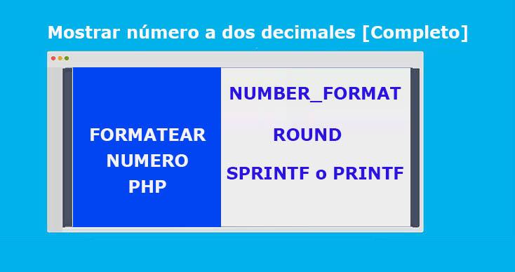 Mostrar número a dos decimales
