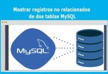 Mostrar registros no relacionados de dos tablas MySQL