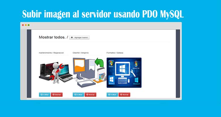 Descargar upload image usando PDO